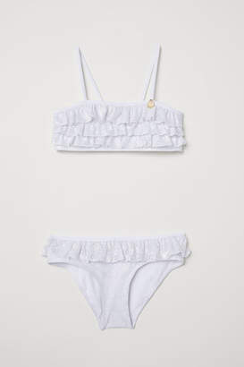 H&M Bikini with Ruffles - White