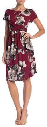 WEST KEI Twist Front Floral Dress
