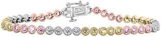 Rob-ert Robert Manse Designs Romanse 14K Two-Tone Plated & Silver Cz Bracelet
