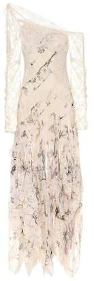 Zimmermann One-shoulder printed silk dress