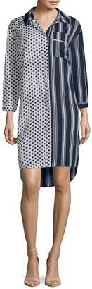 Walter Baker Women's Nancy Striped and Polka Dot Shirtdress