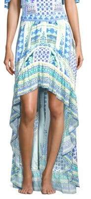 Camilla Rio With Love Silk Hi-Lo Skirt