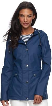 Women's Halitech Hooded Rubber Rain Jacket