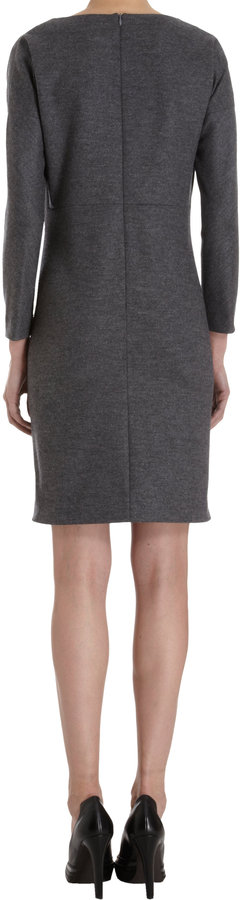 Derek Lam Three-Quarter Sleeve Seam Detail Dress
