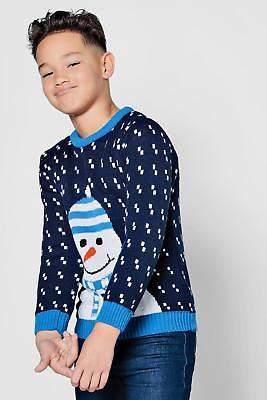 Mens Boys Snowman Christmas Jumper