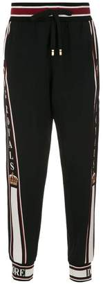 Dolce & Gabbana JOGGING PANTS WITH PATCHES
