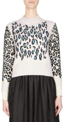 Kenzo Leopard Print Knit Pullover