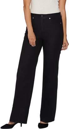 Isaac Mizrahi Live! Petite 24/7 Denim Wide Leg 5-Pocket Jeans