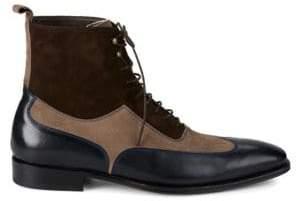Mezlan 18769 Leather & Suede Wingtip Boots
