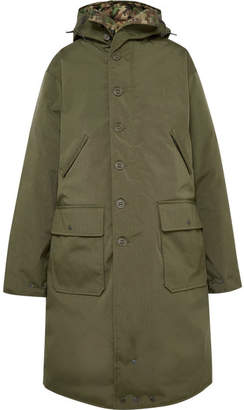 R 13 Oversized Canvas Down Coat - Green