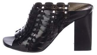 Lanvin Leather Cage Slide Sandals