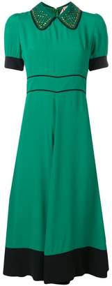 No.21 short-sleeve flared dress