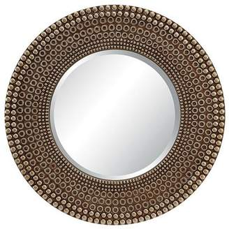 OSP Designs Lyon Wall Mirror in Antique Bronze Finish.