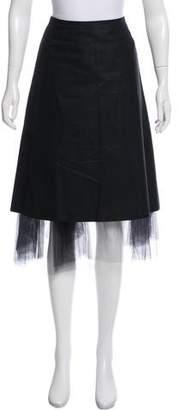 Burberry Flared Knee-Length Skirt