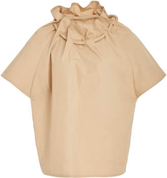 Rosetta Getty Cotton Poplin Corded Drawstring Top