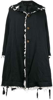 Comme des Garcons raw edge oversized coat