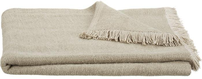 Crate & Barrel Linen Twill Natural Throw
