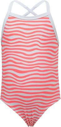 Snapper Rock Orange Crush Stripe One-Piece Swimsuit