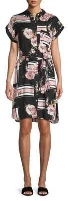 Dorothy Perkins Floral Stripe Collage Shirt Dress