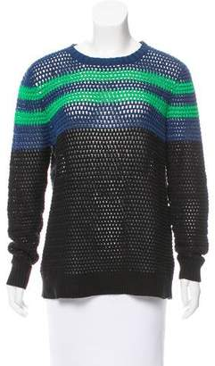 Jason Wu Open Knit Long Sleeve Sweater