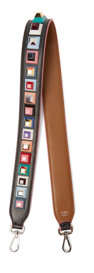 FendiFENDI Strap You stud-embellished leather bag strap