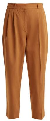 Vanessa Bruno Tapered-leg cotton-blend twill trousers