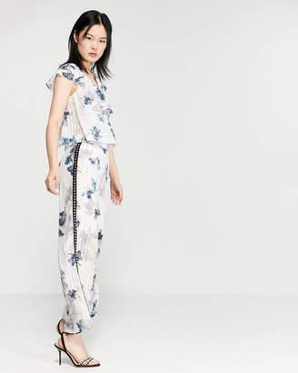 7e5cdf61ea659 Religion Glisten Floral Ruffled Jumpsuit