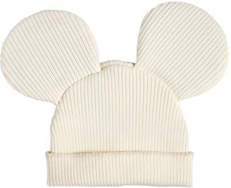 Comme des Garcons Mouse Ears Wool Blend Rib Knit Beanie