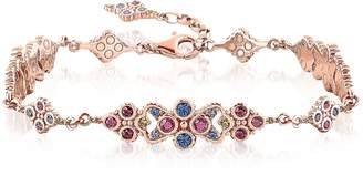 Thomas Sabo 18k Rose Gold Plated Sterling Silver Royalty Colorful Stones Bracelet