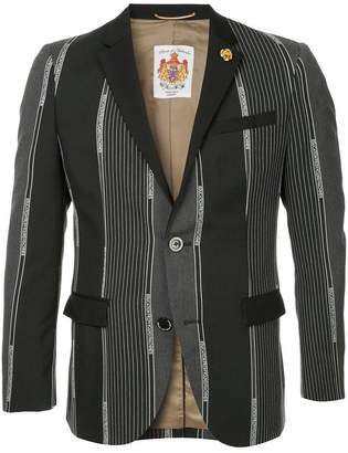 Education From Youngmachines branding stripes tailored blazer