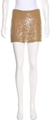 Haute Hippie Sequined Mini Shorts