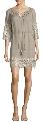 Elie Tahari Lilah Lace Trim Dress $298 thestylecure.com