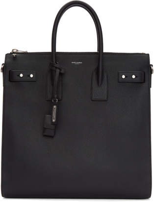 Saint Laurent Black Large North/South Sac De Jour Tote