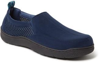 Dearfoams Men's Microsuede & Mesh Jungle Moccasin Slippers