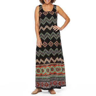 Ronni Nicole Sleeveless Bordered Maxi Dress