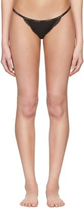 Calvin Klein Underwear Black Mesh Lace String Thong $20 thestylecure.com