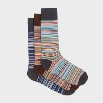 Men's Signature Stripe Socks Three Pack $75 thestylecure.com