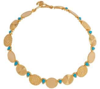 Joelle Gagnard Kharrat - Moneta Turquoise Embellished Necklace - Womens - Blue