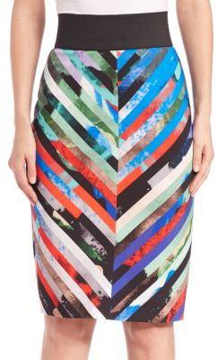 MILLY Mirage Striped Skirt $295 thestylecure.com