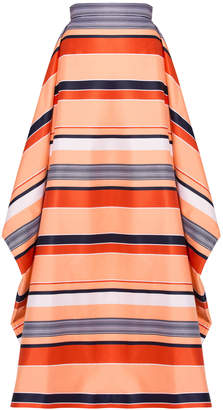 Christian Siriano California Stripe Overlay Skirt