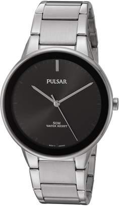 Pulsar Men's PG2043 Analog Display Japanese Quartz Silver Watch