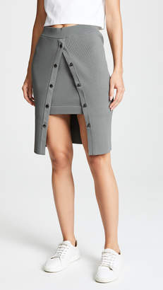Alexander Wang Bodycon Double Layer Skirt with Snaps