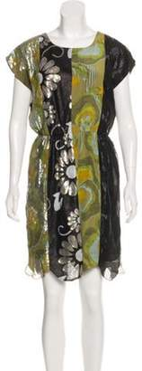 Anna Sui Sequined Mini Dress Chartreuse Sequined Mini Dress