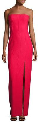 Elizabeth and James Carly Paneled Strapless Ponte Gown $695 thestylecure.com