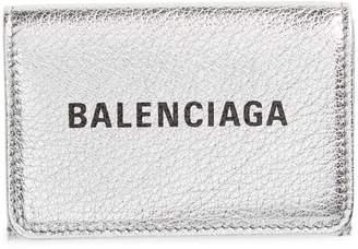 Balenciaga Mini Everyday Metallic Leather Wallet