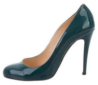 Christian Louboutin Semi Pointed-Toe Patent Leather Pumps