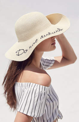 LA Hearts Do Not Disturb Straw Hat