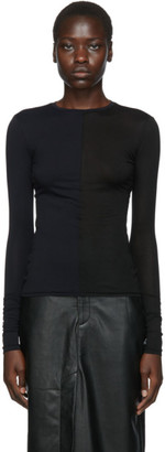 Markoo Black The Half/Half Top Long Sleeve T-Shirt