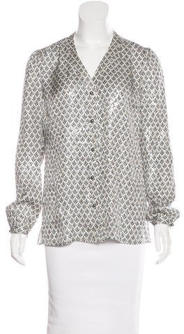 Tory Burch Tory Burch Silk Brocade Top