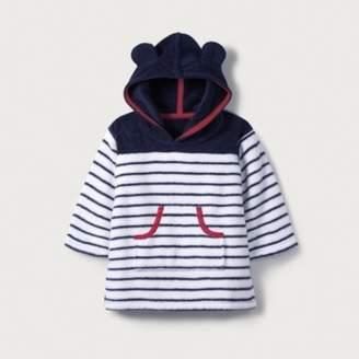 The White Company Towelling Hoodie (0-24mths), Navy/White, 0-6mths